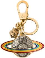 Gucci GG Supreme globe keyring