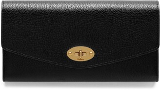 Mulberry Darley Wallet Black Small Classic Grain