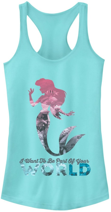 Fifth Sun Juniors' The Little Mermaid Your World Racerback Tank