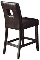 Homelegance 3270-24S1BK Bi-Cast Vinyl Chair, Black, Set of 2