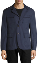 Gucci Solid Zip Trim Blazer