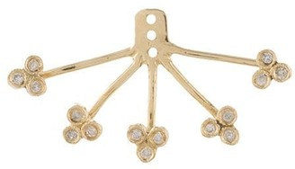 Jacquie Aiche 14kt Gold Diamond 5 X 3 Cluster Ear Jacket