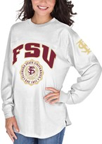 Unbranded Women's White Florida State Seminoles Edith Long Sleeve T-Shirt