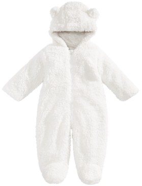 First Impressions Baby Boys and Girls Sherpa Bunting, Created for Macy's