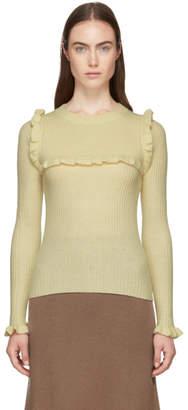 See by Chloe Beige Feminine Ruffle Sweater