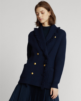 Ralph Lauren Wool-Blend Sweater Blazer