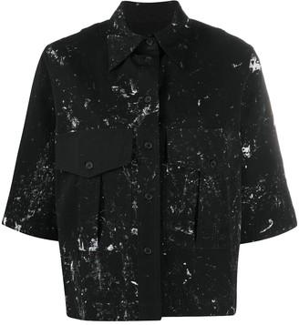 Song For The Mute Paint-Splatter Short Sleeve Shirt