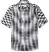 Dunhill Button-Down Collar Gingham Linen Shirt