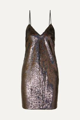 IRO Noret Sequined Crepe Mini Dress - Blue