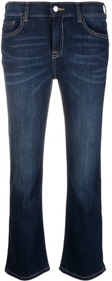 Emporio Armani Cropped Dark Wash Jeans