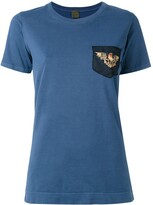 Mr & Mrs Italy eagle embroidered T-shirt