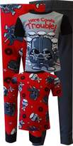 AME Sleepwear Star Wars Here Comes Trouble 4 Piece Cotton Toddler Pajama for boys