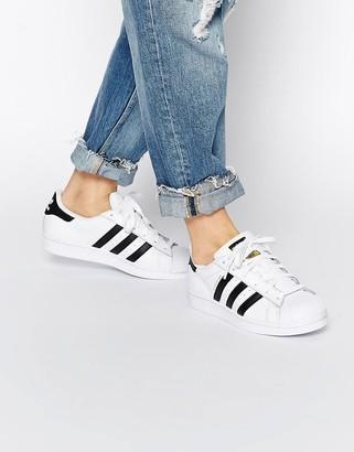 adidas Superstar white & black trainers