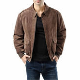 LANDING LEATHER Landing Leathers Men's A-2 Suede Leather Flight Bomber Jacket - Big and Tall