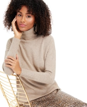Charter Club Lurex Cashmere Turtleneck Sweater, Created for Macy's