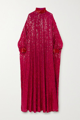 Ashish Ma Sheela Sequined Georgette Gown - Pink
