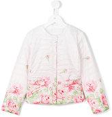MonnaLisa rose print padded jacket - kids - Polyester - 5 yrs