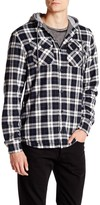 Globe Alford Contrast Hooded Plaid Shirt