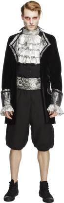 Fever Men's Male Baroque Vampire Costume with Jacket Trousers Cravat
