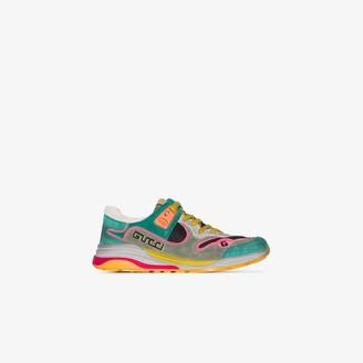 Gucci multicoloured Ultrapace suede sneakers