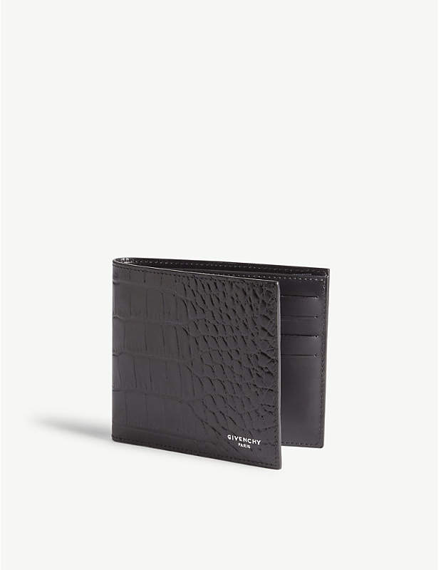 Givenchy Crocodile-embossed leather wallet