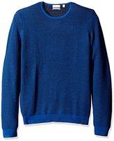 Calvin Klein Men's Merino Ribbed Crew Neck Sweater