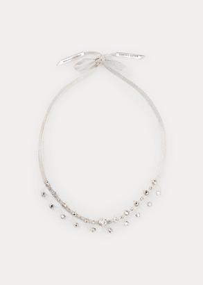 Ralph Lauren Crystal Ribbon Necklace