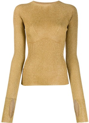 Lanvin ribbed knit glitter sweater