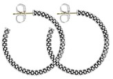 Lagos Beaded Thin Hoop Earrings, Sterling Silver, 28mm