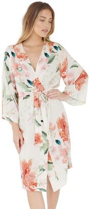 Plum Pretty Sugar Cream Midi Robe
