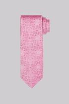 Moss Bros Cerise Floral Silk Tie
