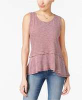 Style&Co. Style & Co Cotton Striped Peplum Top, Created for Macy's