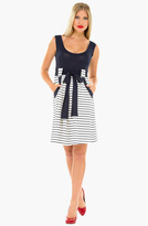 Olian Stripe Maternity Maxi Dress