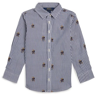 Ralph Lauren Kids Striped Polo Bear Shirt (7-16 Years)