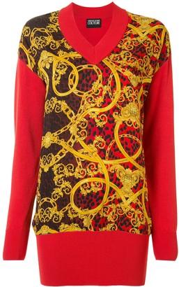 Versace Baroque pattern jumper