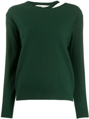 Stella McCartney Split-Neck Boiled Sweater