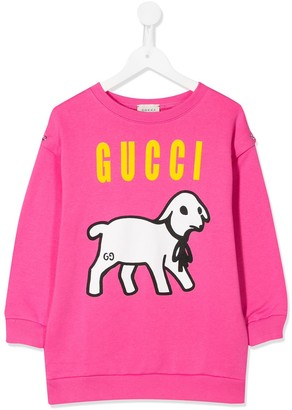 Gucci Kids Lamb Print Sweatshirt