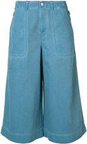 Vivienne Westwood denim wave culottes - women - Cotton - 26