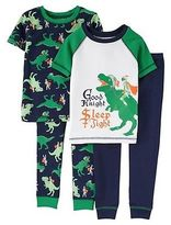 Just One You® made by Carter's Boys' Snug Fit Cotton 4-Piece Pajama Set - Just One You Made by Carter's