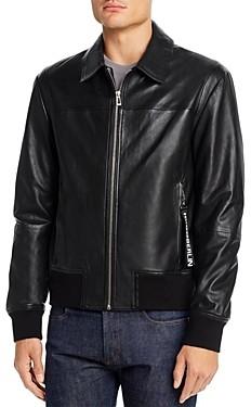 HUGO Lowes Leather Slim Fit Jacket