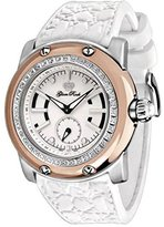 Glam Rock Women's summerTime 46mm White Silicone Band Steel Case Swiss Quartz Analog Watch GR30001DN