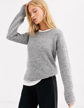 Ichi scoop neck jumper-Grey