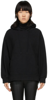 Alexander Wang Black Soft Fleece Turtleneck Hoodie