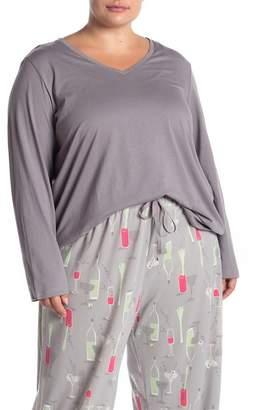 Hue V-Neck Pajama T-Shirt (Plus Size)