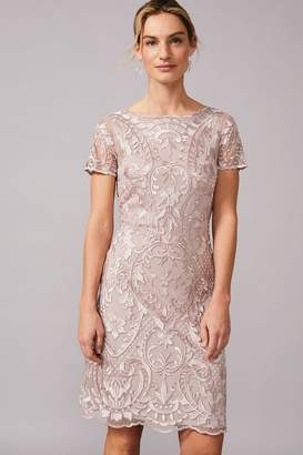 Phase Eight Womens Neutral Lizzy Embroidered Dress - Natural
