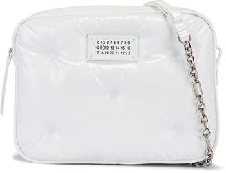 Maison Margiela Glam Slam Tufted Chain Crossbody Bag in White | FWRD