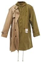 Thumbnail for your product : Miharayasuhiro Mihara Yasuhiro - M-51 Draped Cotton Parka - Green