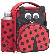 Smash Wear 3D Ladybird Insulated Lunch Bag and 500ml Bottle- Red