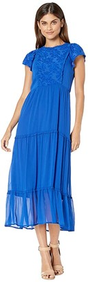 Kensie Crinkle Chiffon Dress KS9K8398 (Ultramarine) Women's Dress