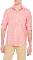 Perry Ellis Roll Sleeve Linen Shirt